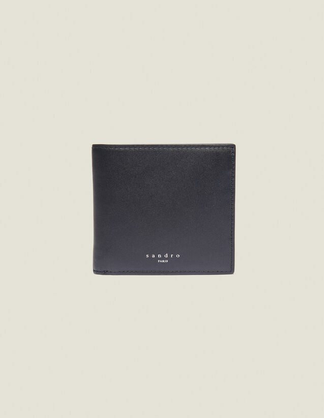 Cartera Con Solapa De Piel Lisa : Colección de Verano color Negro