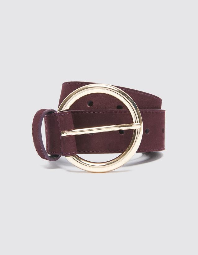 Cinturón De Piel : null color Ciruela