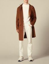 Parka de lana de doble cara : Trenchs & Abrigos color Camel