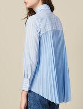 Camisa Asimétrica Con Inserto Plisado : Lo mejor de la temporada color Ciel