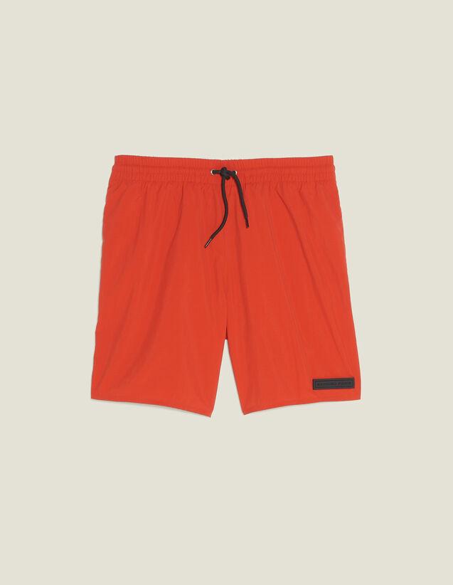 Bañador Corto : Baño de sol color Naranja