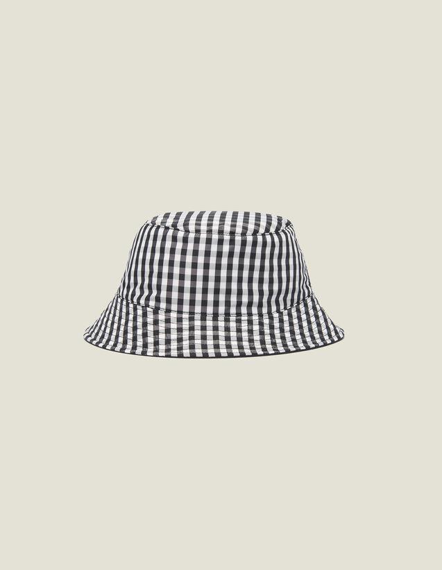 Sombrero Bob Reversible De Algodón : Gorras color Negro/Blanco