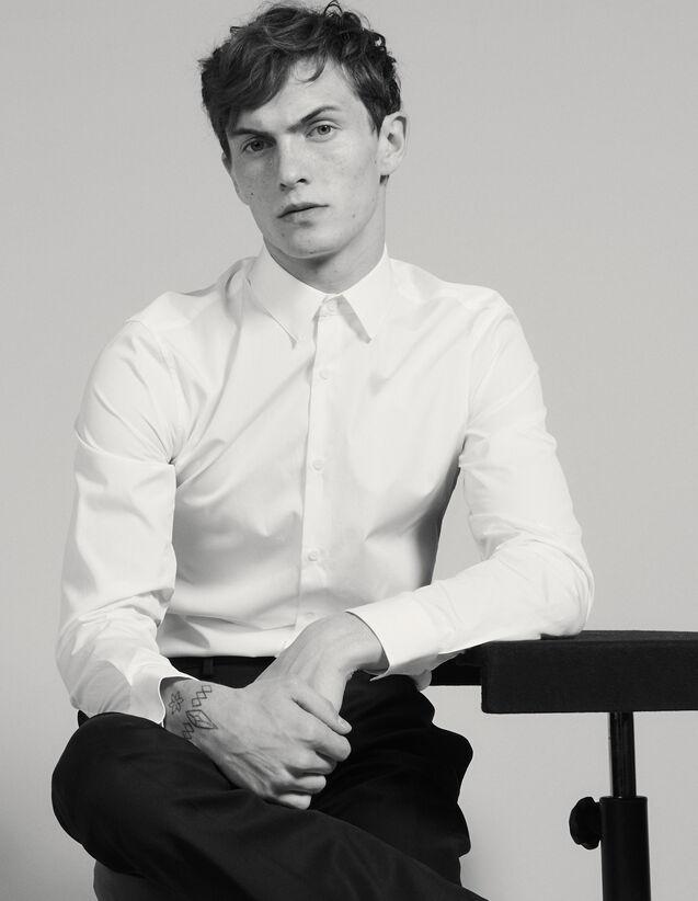 Camisa De Algodón : Camisas color Blanco
