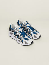 Zapatillas De Mezcla De Material : SOLDES-CH-HSelection-PAP&ACCESS-2DEM color Azul
