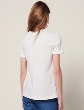 Camiseta De Dos Materiales Con Lazo : null color Crudo