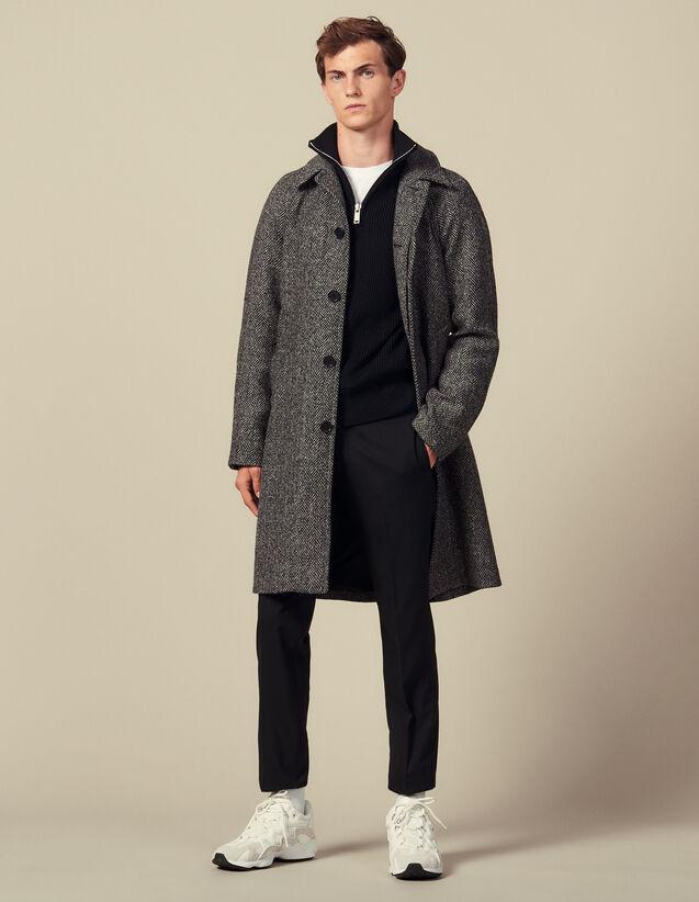 Abrigo con cinturón : Trenchs & Abrigos color Noir/Gris