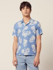 Camisa Con Estampado Hawaiano : Sélection Last Chance color Negro