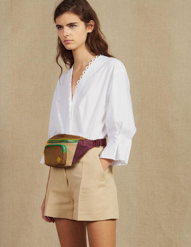 Mono De Dos Materiales Con Camisa : null color Beige