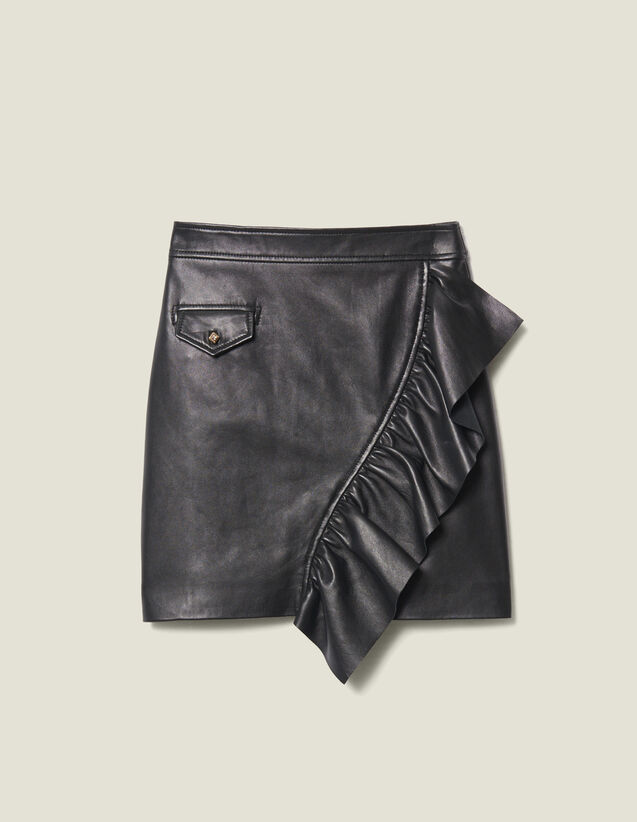 Falda Corta De Piel Con Volante : FBlackFriday-FR-FSelection-30 color Negro