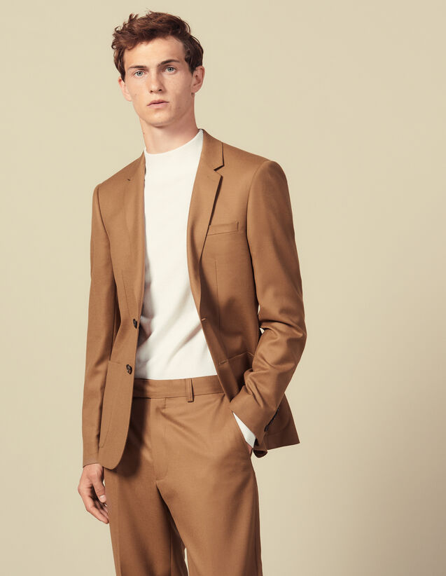 Chaqueta de traje de lana : Trajes & Smokings color Marino