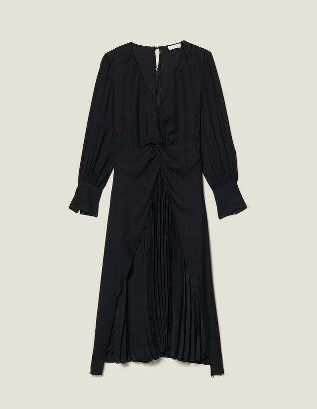 Vestido largo drapeado : FBlackFriday-FR-FSelection-50 color Negro