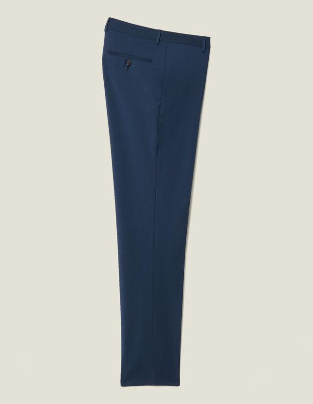 Pantalón De Traje Clásico Super 110 : Nueva Colección color Pétrole