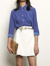Camisa de seda estampada : Tops & Camisas color Azul
