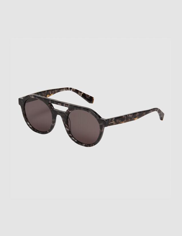 Gafas de sol aviador mixtas : Gafas de sol color Gris charbon