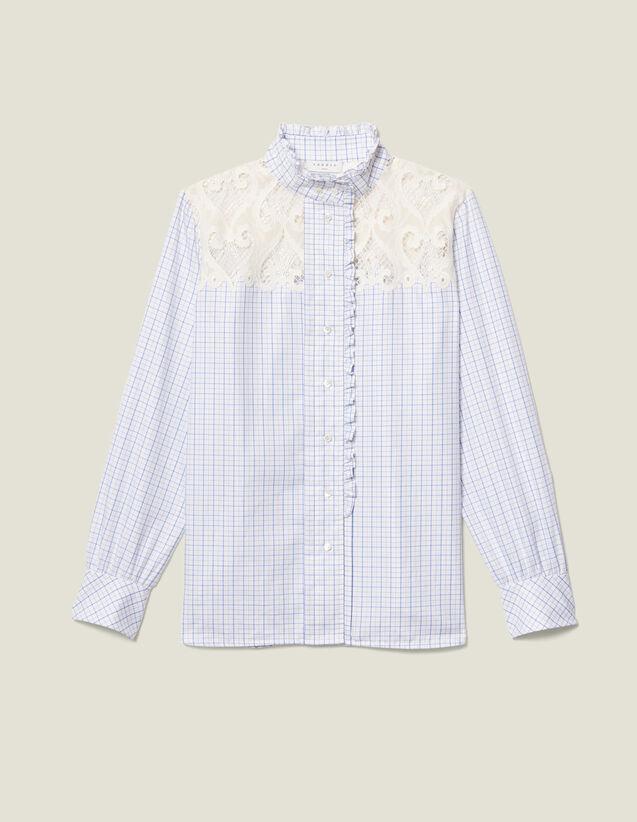 Camisa de cuello alto de cuadros : FBlackFriday-FR-FSelection-40 color Crudo
