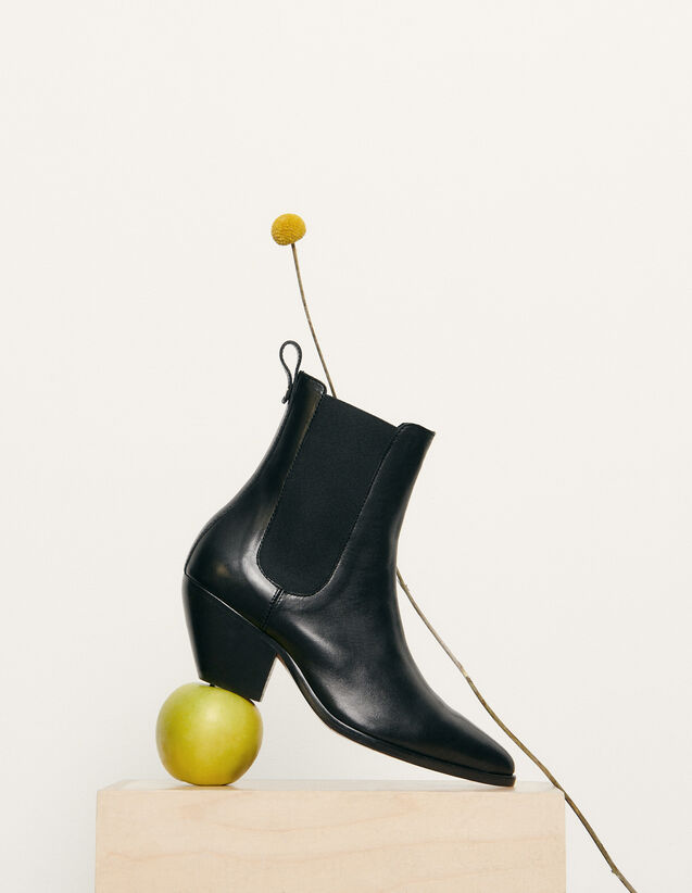 Botas tipo cowboy con elástico : Nueva Colección de Verano color Negro