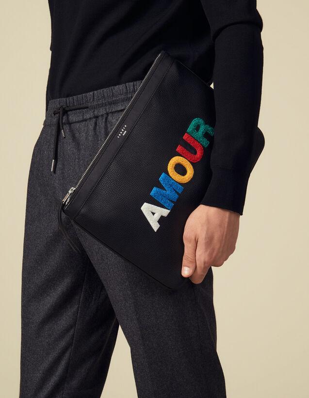 Pochette Amour : Toda la Marroquinería color Negro