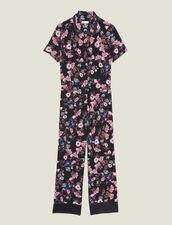 Mono De Pantalón Con Estampado Floral : Monos color Negro