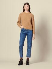 Jersey de manga raglán y cuello redondo : -40% color Camel