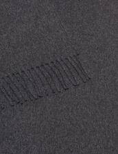 Bufanda de lana y cachemira : Bufandas color Antracita