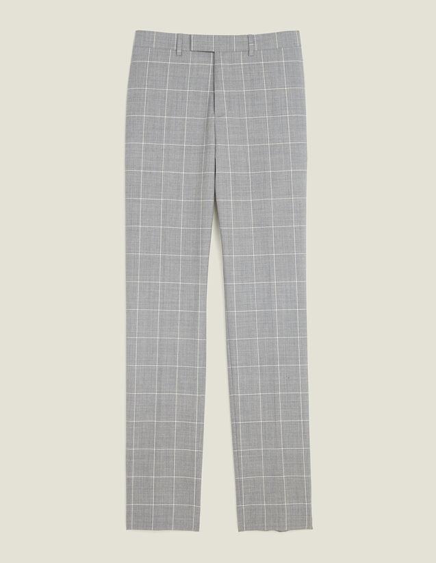 Pantalón De Traje Clásico Super 120 : LastChance-FR-H60 color Gris Claro