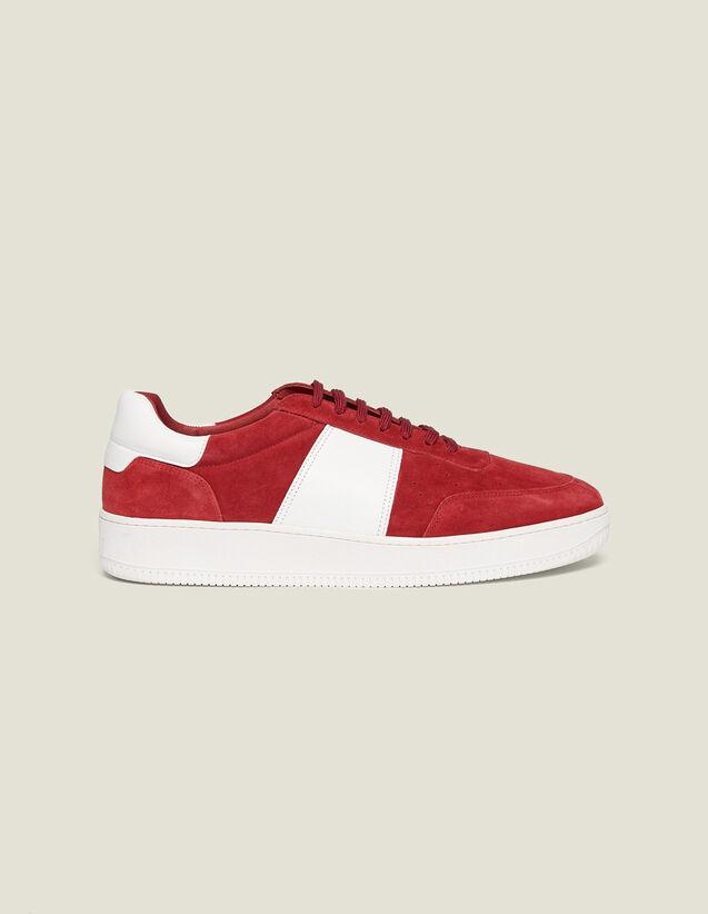 Deportivas De Piel : Zapatos color Rojo