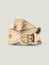 Cinturón Dorado Adornado Con Tachuelas : Cinturones color Full Gold