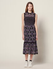 Vestido Midi De Guipur : LastChance-FR-FSelection color Negro