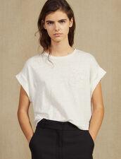 Camiseta De Lino Corta : null color Crudo