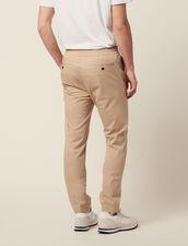 Pantalón Con Cintura Elástica De Algodón : SOLDES-CH-HSelection-PAP&ACCESS-2DEM color Beige