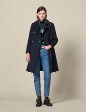 Abrigo corte oficial de mezcla de lana : -50% color Marino