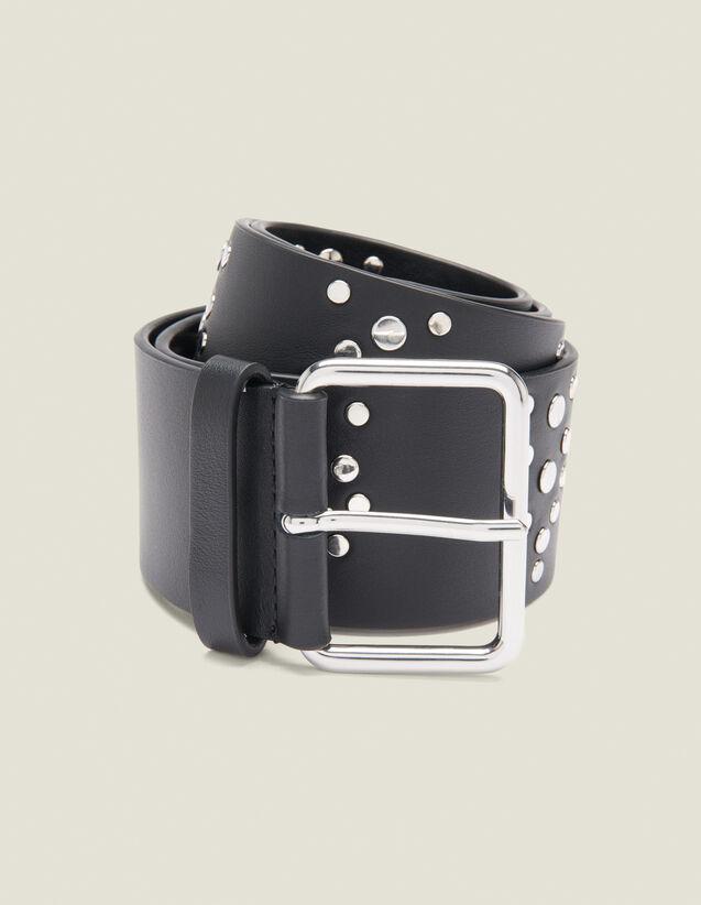 Cinturón Negro Adornado Con Tachuelas : Cinturones color Negro