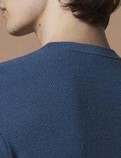 Jersey Fino De Punto De Fantasía : Jerseys & Cárdigans color Azul acero