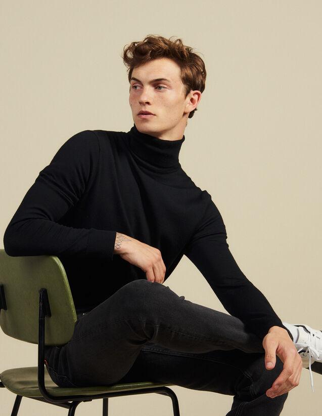 Jersey de cuello vuelto de lana : Jerseys & Cárdigans color Negro