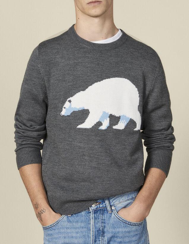 Jersey con oso jacquard : Jerseys & Cárdigans color Gris chiné moyen