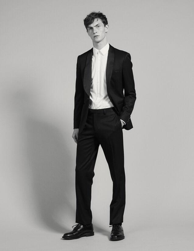 Pantalón De Esmoquin De Grain De Poudre : Trajes & Smokings color Negro