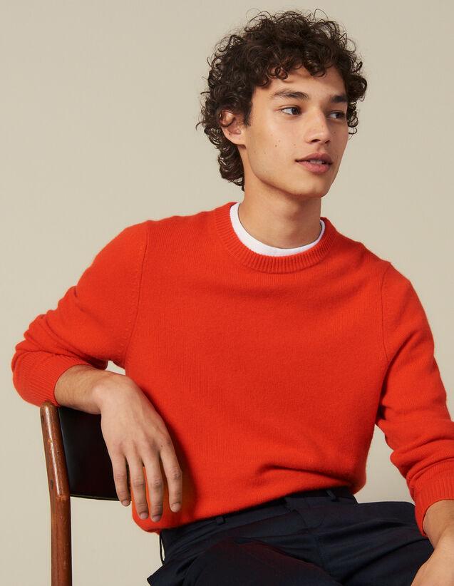 Jersey De Lana Y Cachemira : Jerseys & Cárdigans color Naranja
