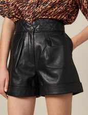 Short De Piel Con Cintura Acolchada : FBlackFriday-FR-FSelection-30 color Negro
