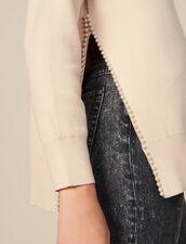 Jersey con abertura bordada con perlas : FBlackFriday-FR-FSelection-30 color Beige