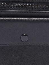 Pochette Pequeña De Piel Lisa : Toda la Marroquinería color Negro
