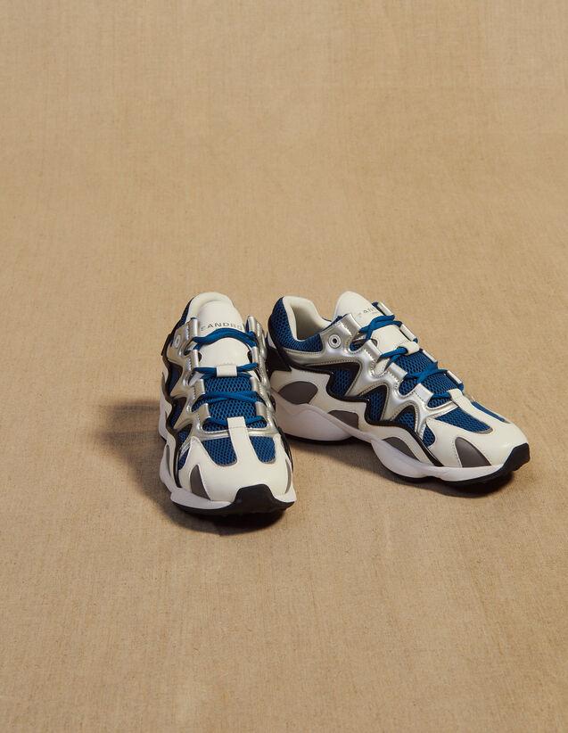 Zapatillas De Mezcla De Material : Zapatos color Azul