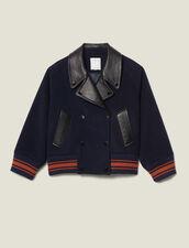 Cazadora corta de lana : Copy of -40% color Marino