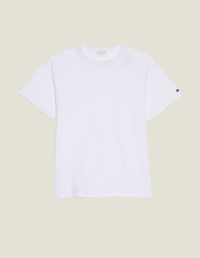 Camiseta Oversize De Algodón : Camisetas & Polos color Blanco