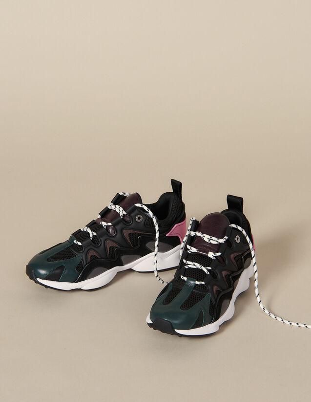 Deportivas De Varios Materiales : Zapatos color Negro