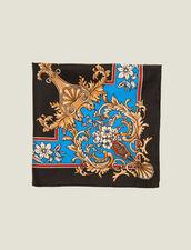 Fular de seda con estampado barroco : Bufandas color Negro