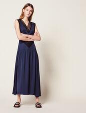 Vestido Largo Fluido : Vestidos color Marino