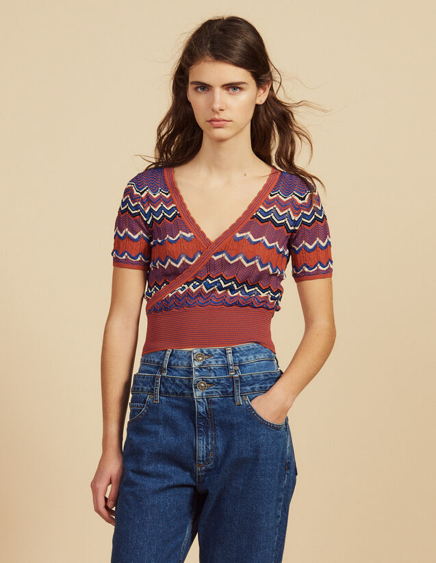 Top Cruzado De Punto : Tops & Camisas color Terracota