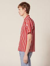 Camisa Manga Corta De Rayas En Contraste : Sélection Last Chance color Rojo