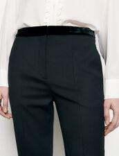 Pantalón de traje recto : Pantalones color Negro