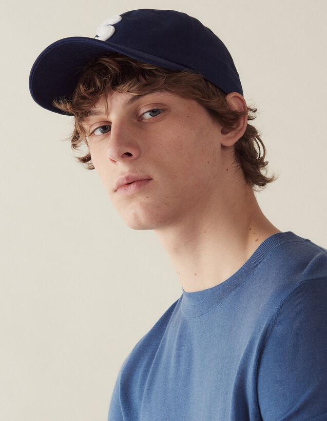 Jersey De Lana Merino : Jerseys & Cárdigans color Azul acero